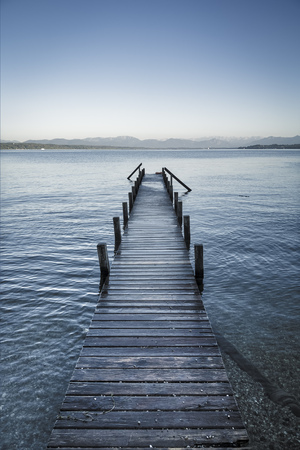 jetty: An image of the Starnberg Lake near Tutzing Bavaria Germany