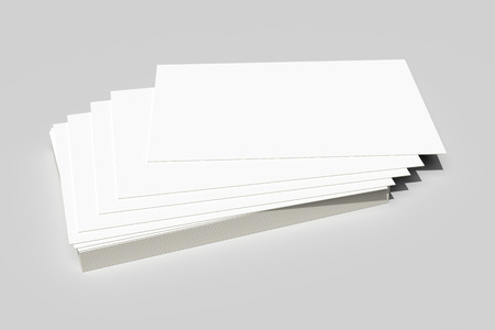 batch: 3d rendering of a batch of business cards Stock Photo