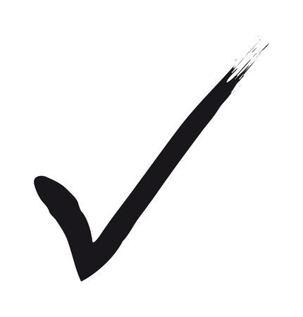 2d illustration of a black check mark