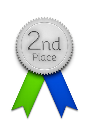 2d illustration of a second place award ribbon badge