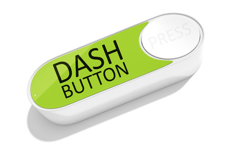 wlan: 3d rendering of a dash button to order things