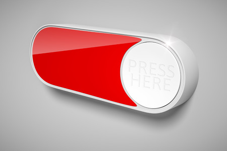 internet buttons: 3d rendering of a dash button to order things in the internet with space for your own text