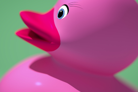 ducky: 3d rendering of a sweet rubber ducky