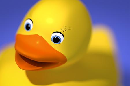 rubber ducky: 3d rendering of a sweet rubber ducky
