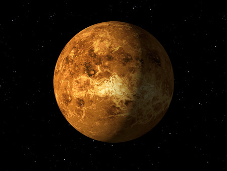 venus: 3d rendering of the planet Venus Stock Photo