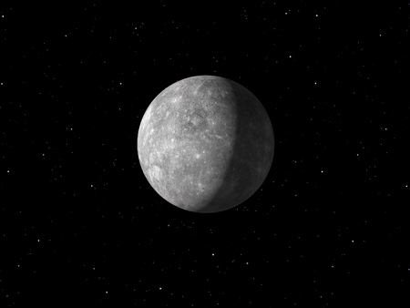 mercury: 3d rendering of the planet Mercury