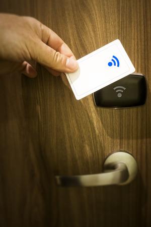 cardkey: An image of a keyless door unlock