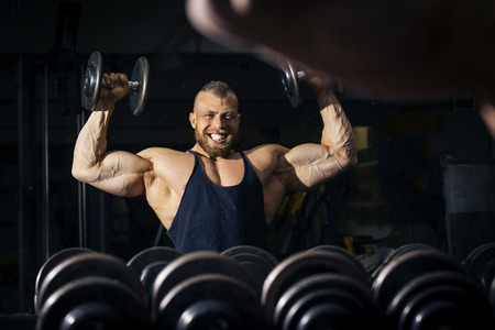 effort: An image of a strong male bodybuilder