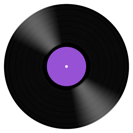 2d illustration of a typical vinyl record