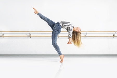 An image of a female dancer in action