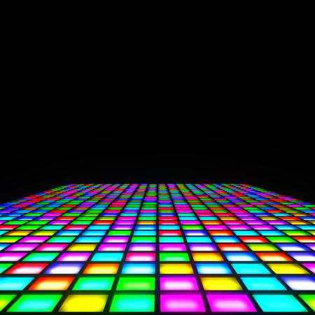 2d illustration of a multi color lights floor