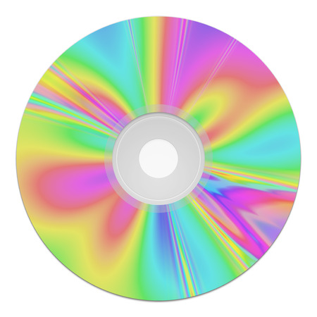 rom: 2d illustration of a colorful cd-rom music data storage Stock Photo
