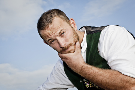 hairy: An image of a traditional bavarian man