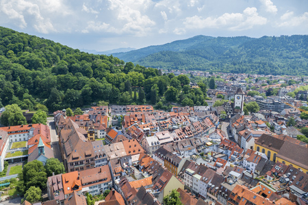 freiburg: An image of an aerial view over Freiburg