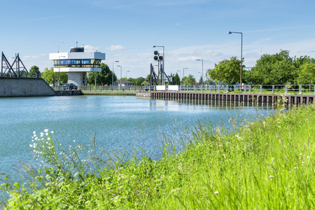 An image of the floodgate at Iffezheim Gerrmany