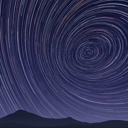 스타 산책로 밤의 2D 그림