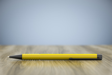 3d rendering of a yellow pen and lots of space for your content