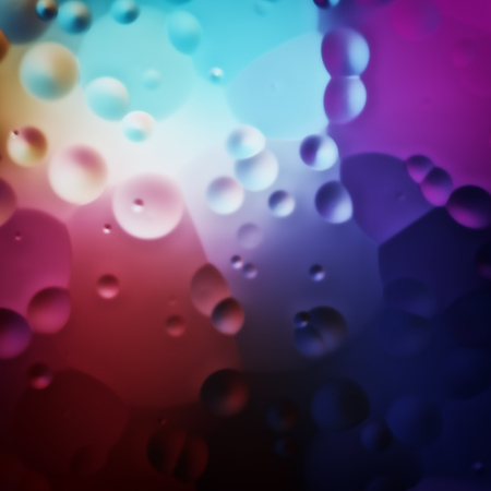 illustration of a colorful oil drops background