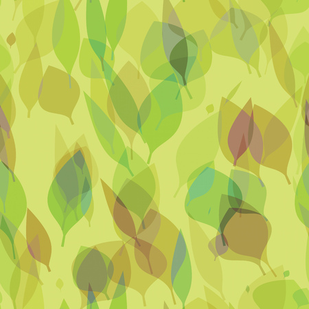 2d illustration of a seamless stylish leafs background