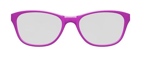 흰색 배경에 핑크 안경의 3d 일러스트