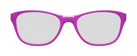 3d illustration of pink glasses on white background Stock Photo
