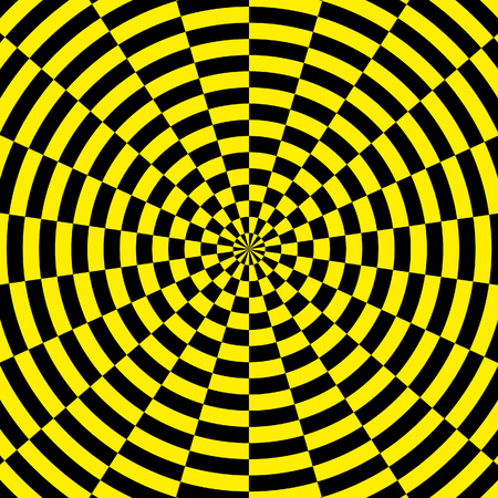 2d illustration of a yellow and black radial background Stock Illustration - 87860257