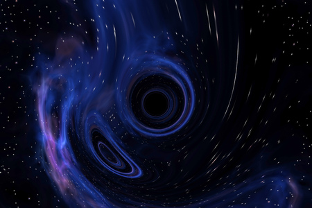 Illustration of a black hole anomaly