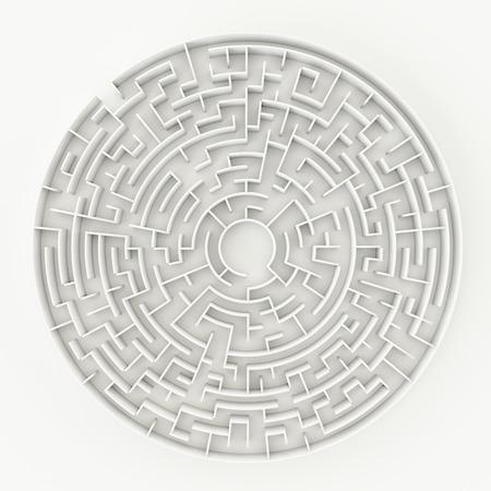 3d illustration of a circle maze