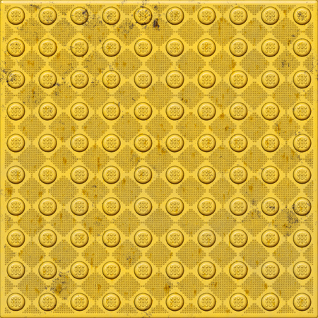 Illustration of a typical tactile walk way texture for blind people Stock Photo