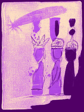 Illustration of the three kings wise men Stock Photo