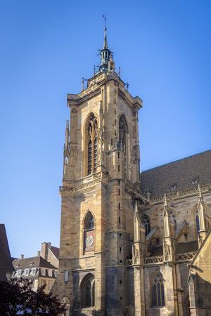 An image of the beautiful church of Colmar France Фото со стока