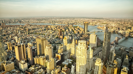 An image of Manhattan New York from above 스톡 콘텐츠