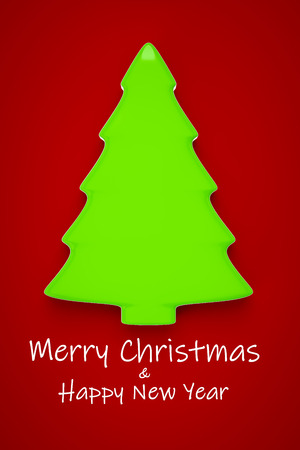 A typical green Christmas tree Christmas decoration 3d