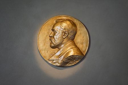 Ein Bild des Nobelpreises Stockholm Schweden