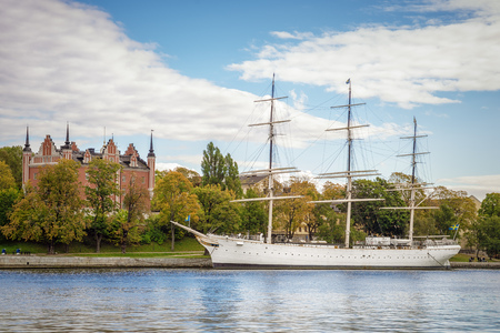 An image of a beautiful sailing ship in Stockholm Sweden