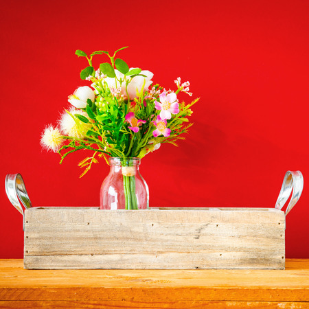 An image of an artificially bunch of flowers easter holiday decoration background