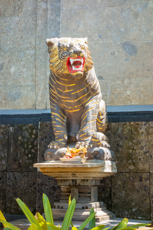 An image of a tiger statue in Bali Indonesia Stock Photo