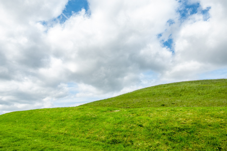 An image of a green grass meadow background in Ireland