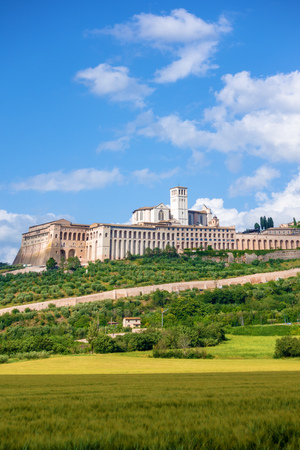 An image of a view to Assisi in Italy Umbria Stock Photo - 119715777