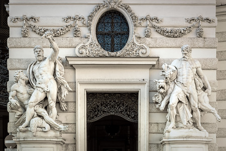 An image of some Hercules Statues in Vienna Austria