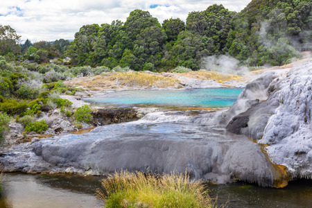 An image of a volcanic activities at waimangu new zealand Stock Photo