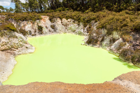 An image of geothermal activity at Rotorua in New Zealand 写真素材