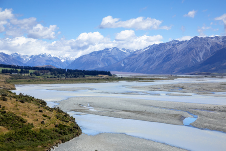 An image of the Mountain Alps scenery in south New Zealand