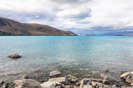 An image of the turquoise Lake Tekapo in New Zealand