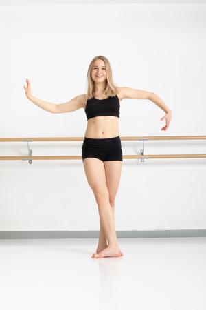 Een afbeelding van een danseres in actie Stockfoto