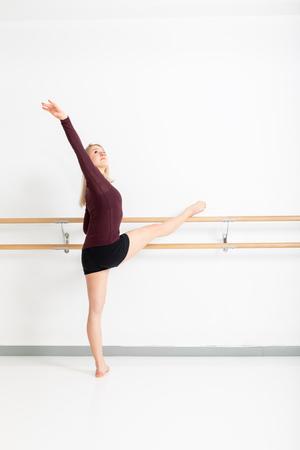 An image of a female dancer on the pole Reklamní fotografie - 121062049