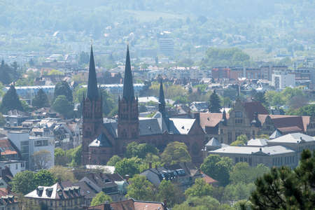 An image of a view from Kirchberg at Freiburg Germany