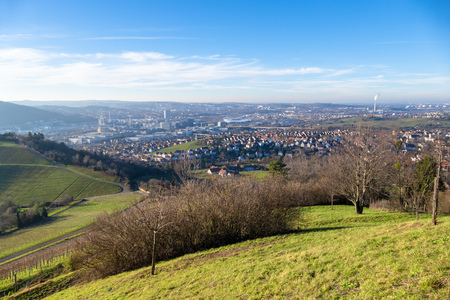 An image of an aerial view to Stuttgart Germany Stock Photo
