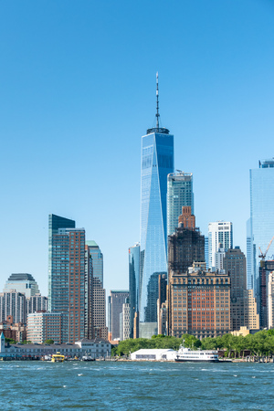 An image of the high rise buildings of new york Stock Photo