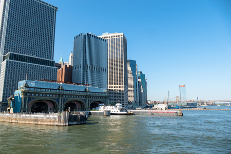 An image of downtown New York City